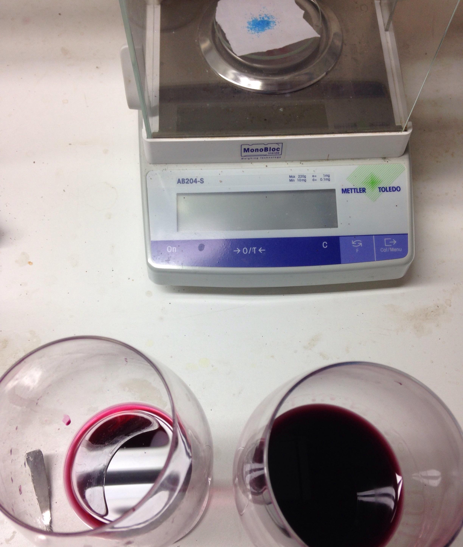 Pruebas de disminución de la reducción del vino de Montote 2014.